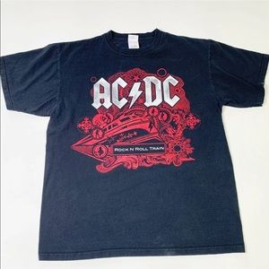 AC/DC 2009 Tour T-Shirt ROCK N ROLL TRAIN BAND L